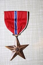 GENUINE WW2 US BRONZE STAR MEDAL IN CARDBOARD BOX
