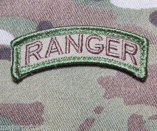 RANGER TAB ROCKER USA ARMY MILITARY US ISAF INFIDEL MORALE MULTICAM VELCRO PATCH