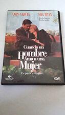 """DVD """"CUANDO UN HOMBRE AMA A UNA MUJER"""" ANDY GARCIA MEG RYAN LUIS MANDOKI"""
