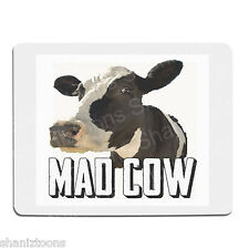 Mad Cow Novelty Gift 190mm x 210mm 5mm Thick Rubber Mouse Mat