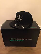 LEWIS HAMILTON GENUINE BLACK BELGIUM SPA F1 GP FLAT CAP HAT VERY RARE!!!!