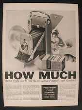 1956 Polaroid Land Camera Photo Photography Equipment Film How Much Trade AD
