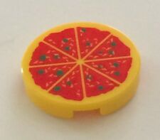 *NEW* 1 Piece Lego Minifig Food YELLOW PIZZA 2x2 Round Tile