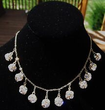 Kate Spade lady marmalade CRYSTAL disco ball pave sparkly necklace earrings set
