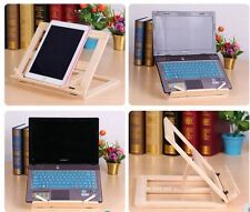 Portable Folding Wooden Book iPad Music Recipe Laptop Stand Holder