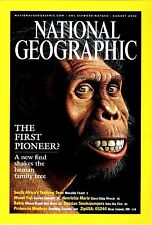 EXC NATIONAL GEOGRAPHIC vol.202 #2 August 2002 New Skull Find, Oceans Fuji Bahia