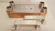 "NEW! 30 Plate Water to Water Brazed Plate Heat Exchanger 1"" FPT Ports W/Brackets"