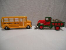 Dept 56 Snow Village Christmas --- School Bus, Snow Plow - 51373 --- RETIRED