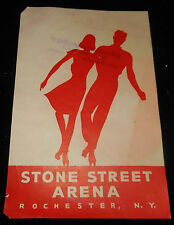 Vintage STONE STREET ARENA, ROCHESTER NY Roller Rink Sticker