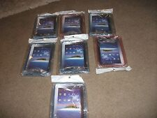 JOB LOT OF  7 x NEW SEALED  GALAXY TAB /P1000 I PAD CASES RED AND BLUE CARBOOT ?