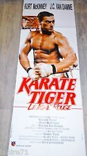 jc van damme KARATE TIGER  ! affiche cinema karate