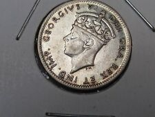 Better date 1945-c Silver NEWFOUNDLAND Canadian 10 cent. 10c. CANADA.
