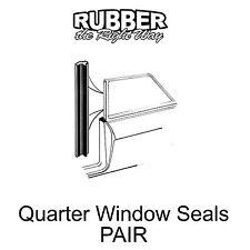 1961 1962 1963 Ford Galaxie Quarter Window Seals - PAIR - 2 DR HT