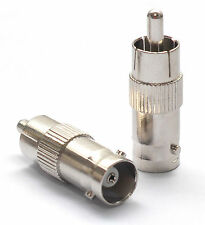 BNC Female Jack to RCA Male Plug Straight Connector Adapter Nickel Plated #923