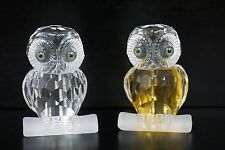 Attraction Design Home Small Figurine Crystal Owl, Set of 2