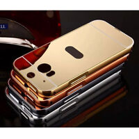 Luxury Aluminum Ultra thin Mirror Metal Case Cover For Various HTC Phones