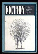 Revue FICTION n° 222 Juin 1972   R. ZELAZNY / Francis CARSAC / K. ROBERTS   OPTA