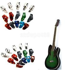 5 Thumb +10 Finger Nail Guitar Picks Plectrum Colorful FOR Guitar Bass Banjo