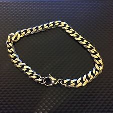 Curb Chain Bracelet - Silver Effect Like The Great Frog Punk Rock Heavy Metal