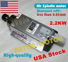 【USA Stock】 2.2KW Square Air cooled Spindle Motor ER20 24000rpm for CNC Router