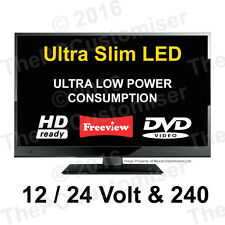 "15.6"" 12 Volt HD Digital Ultra slim LED TV DVD Caravan, Boat, Marine, HGV 24 12V"