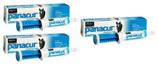 3 TUBES LOT PANACUR EQUINE PASTE 10% Fenbendazole Horse Wormer 1000lbs Per Tube
