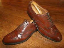 CHURCH'S CHETWYND BROGUE UK 11.5 WALNUT CALF BROWN LEATHER WINGTIP BROGUES SHOES