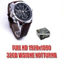 SPY WATCH 32 GB LEATHER FULL HD 1080P INFRARED NIGHT VISION SPY CAMS CW132