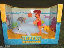 2x PLUSH FLIPPER & LOPAKA Peluche The Dolphin - Il Delfino - BRAND NEW With BOX