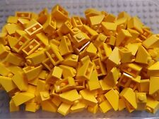 50 LEGO Brand New 45 2 x 1 Yellow Brick Slope Roof Tile No.3040 House Build