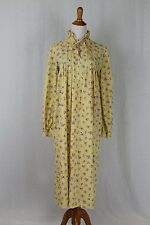 Vintage LAURA ASHLEY Wales Yellow Floral Cotton Smock Cottage Chic Dress 12 M