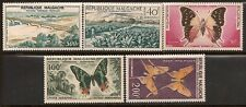 MALAGASY 1960 BUTTERFLY SC # C62-C66 MLH