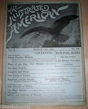 Illustrated American Magazine 1892 March 12th MUSEUM FILED FN