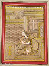 Miniature Painting Of Mus Ragamala  n Rajput Todi Ragini Art Royal Palace_AR230