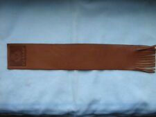'CUNARD' - LEATHER BOOKMARKER - SOFT BROWN