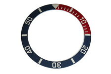 Bezel insert for Seiko 10BAR 7S26-0040 divers watches (red/blue)