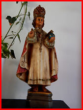 RARE Antique French religious Statue Infant Jesus of Prague