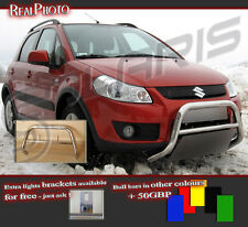 SUZUKI SX4 2007+ LOW BULL BAR WITHOUT AXLE BARS +GRATIS!! STAINLESS STEEL!!