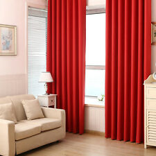 Blackout Room Darkening Curtains Window Panel Drapes Bedroom Solid Lined Curtain