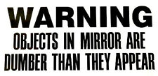 Warning - Window sticker Car/RV/ATV/Truck/Hunting/Outdoor Vinyl Decal