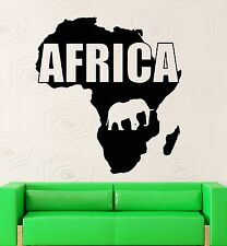 Wall Sticker Vinyl Decal Map Africa Animals Continent Geography Decor (ig1212)