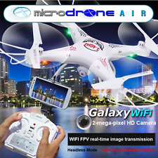 "MicroDRONE Galaxy Wifi 11"" Quadcopter w/ Wifi 2.0 HD Video Camera Remote Control"