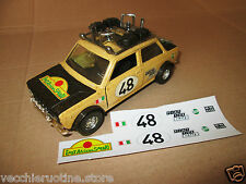 FIAT 128 SAFARI rally 1/25 POLISTIL POLITOYS ADESIVI STICKER RESTAURO giannini