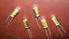 100 uF 10V Electrolytic Capacitors Lot of 5 Fine Gold Nichicon USA Seller