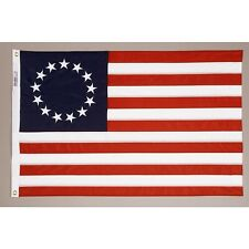 3x5 ft Betsy Ross Flag COTTON Sewn 13 Stars Circle 13 Stripes 1777-1795 USA Made