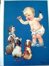 "Adorable Vintage Print by Charles Twelvetrees - ""Happy Days Are Here Again"""