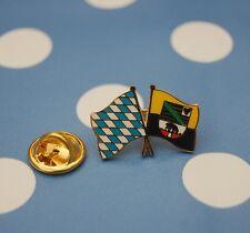 Freundschaftspin Bayern Sachsen Anhalt Pin Button Sticker Anstecker Flaggenpin