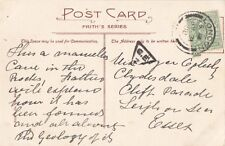 TRIANGULAR INSPECTOR MARK: 1908 G.E/2  on picture postcard