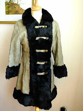 LADIES VINTAGE RUSSIAN PRINCESS STYLE LEATHER & FUR COAT