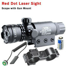 New Style Tactical Hunting Rifle Red Laser Sight Dot Scope Adjustable w/ Mounts